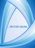 抽象蓝色矢量设计模板 — 图库矢量图片
