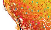 カラフルな花柄のデザイン — ストックベクタ