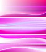 гладкая баннер стола - розовый, фиолетовый тема — Cтоковый вектор