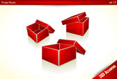Red Gift - Present Boxes — Stock Vector