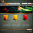 Modern Web Site Design Vector — Stockvectorbeeld