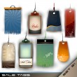 Set of Blank Tags of Different Materials - Detailed Vector — Stock Vector