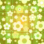 Seamless tile-able spring background - vector wrapping paper pattern — Stock Vector