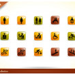 15 Beautiful glossy Shiny Icons - people collection - set — Stock Vector