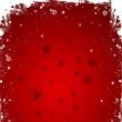 Deep Red Christmas Greeting — Stock Vector
