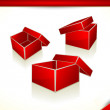 3D icons - Blank Empty Boxes — Stock Vector