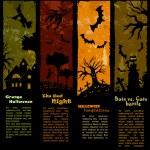 Cadılar Bayramı poster — Stok Vektör