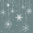 Snowflake Christmas Background — Stock Vector