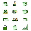 Business Office Internet Icons — Vettoriali Stock