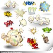 Stock Vector: Comic Book Explosions