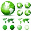 Glossy Earth Globes — Stockvektor