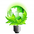 Environmental Eco Earth Globe — Imagen vectorial