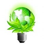 Environmental Eco Earth Globe — Stock Vector