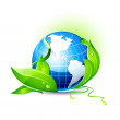 Stock Vector: Environmental Green Earth Concept