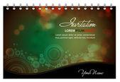 Vector Invitation Card - Greeting Card or Menu Template — Stock Vector