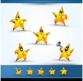 5 Star Character Icons — Stock Vector