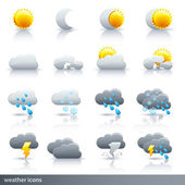 Weather Icon Set - Meteorology — Stock Vector
