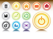 Collection of glossy web buttons — Stock Vector