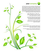 Floral futuristic background — Stock Vector