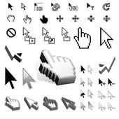 Largest Set of Vector Cursor Icons — Stock Vector
