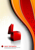 Festive Gift Box Opening - Vector Design — Stock Vector