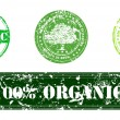 Set of stamps for organic bio natural products — Stock Vector #31707189