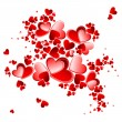 Valentine heart petals blooming — Stock Vector #31707411