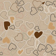 Cute valentine's day vector pattern — Imagen vectorial