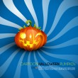 Funny Halloween Pumpkin with Big Smile — Stock Vector