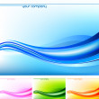 Abstract Waves - Vector Card Design — Vector de stock #31709253