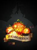 Halloween poster - objecten gescheiden op lagen met de naam dienovereenkomstig — Stockvector