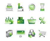 Business Office Internet Icons — Stock Vector