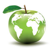 Apple - globe — Stock Vector