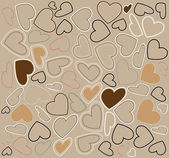 Cute valentine's day vector pattern — Vettoriale Stock