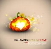 Halloween Pumpkin Spreading Love — Stock Vector