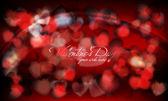 Tarjeta de felicitación del día de san valentín — Vector de stock
