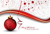 Vektorové vánoční přání — Stock vektor
