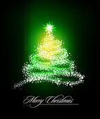 Christmas Tree of Glittering Stars — Stock Vector