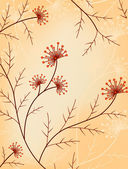 Vintage Floral Vector Background — Stock Vector
