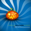 Funny Halloween Pumpkin with Big Smile — Stock Vector #4629986