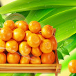 Box Of Oranges Fruits — Stock Photo