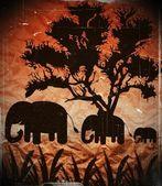 Olifant silhouet in ontwerp voor een papieren aard — Stockfoto
