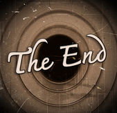 The end Movie ending screen — Stock Photo