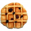 Photo of waffle with raisins — Stock Photo