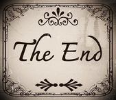 The end Movie screen — Stock Photo