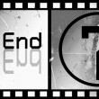 The end Movie screen - Stock Photo