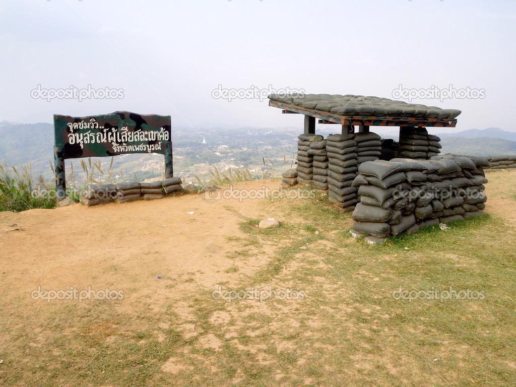 Khao Kho Thailand  city photos : Old bunker in Khao Kho Viewpoint , Phetchabun , Thailand tourism ...