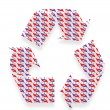 Recycling icons — Stock Photo