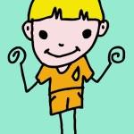Boy And Girl Cartoon — Stock Photo #31588373
