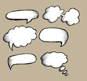 Speech Bubbles Vector — Stock vektor